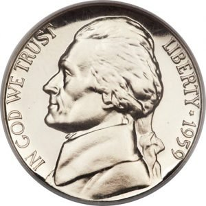 1959 Jefferson Nickel Value