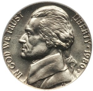 1980-D Jefferson Nickel Value