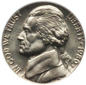 1980-D Jefferson Nickel Value