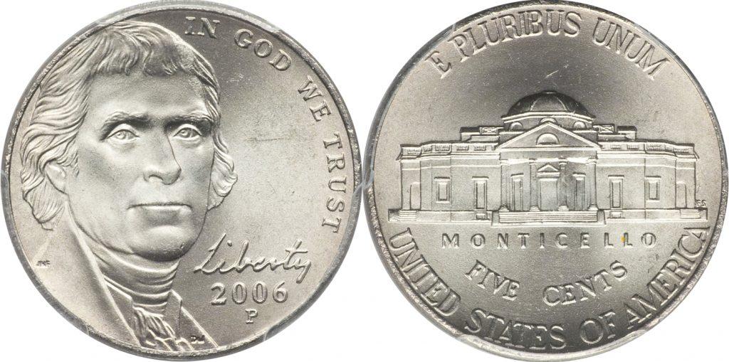 2006-P Jefferson Nickel Value