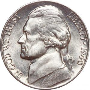 1940 Jefferson Nickel Value