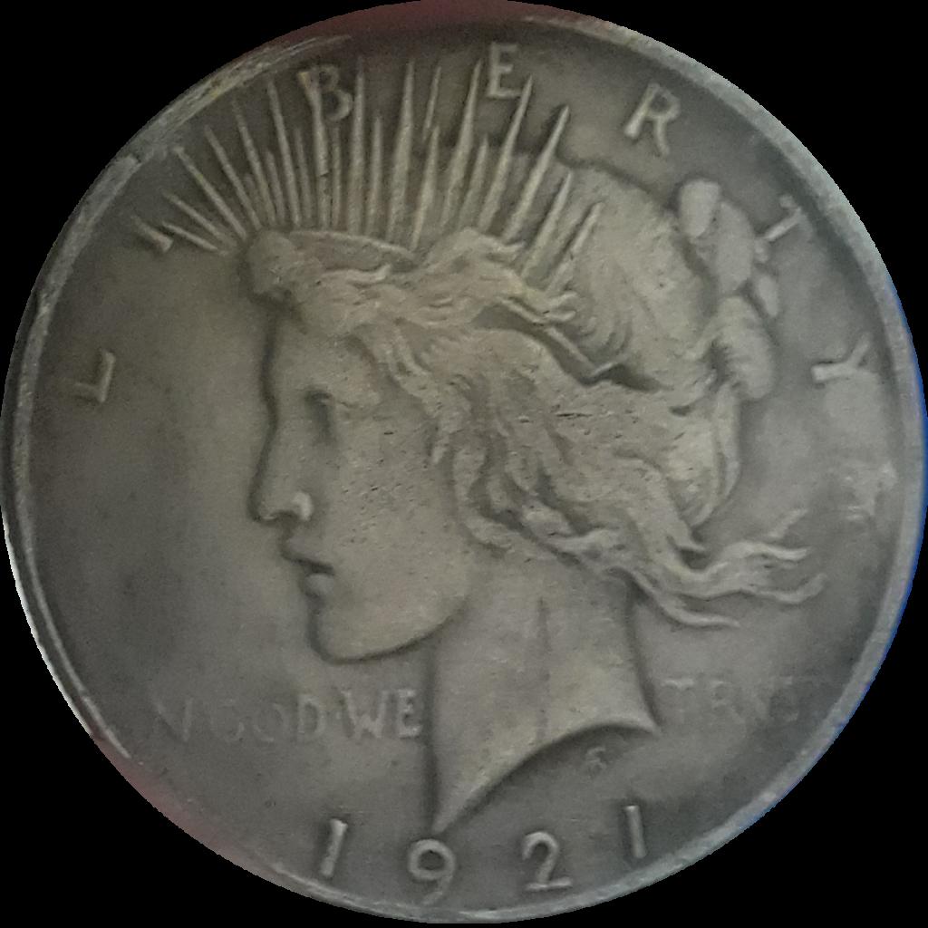 Counterfeit 1921 Peace Dollar Obverse