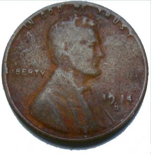 1914-D Lincoln Cent Altered Date