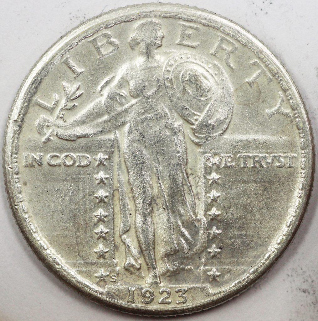 1923-S Standing Liberty Quarter Counterfeit