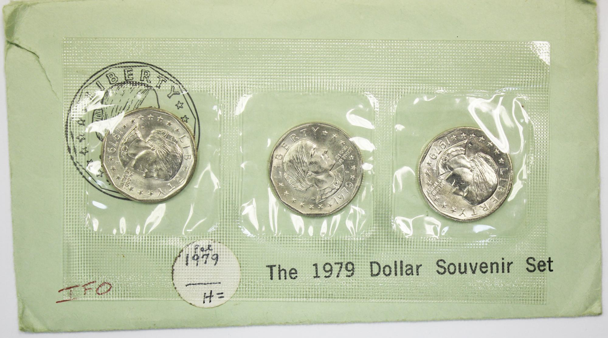 Anthony US Mint Souvenir Set BU 1979 P D S Susan B