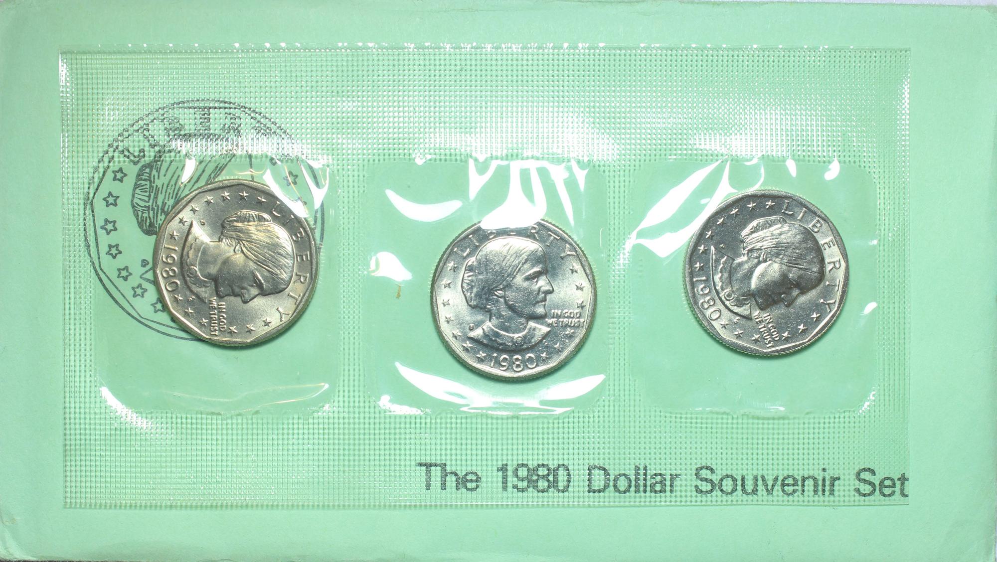 1980 Susan B Anthony Dollar Souvenir Set Coin Help