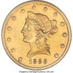 $10 Gold Eagle value no motto