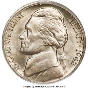 1942 Jefferson Nickel Value Type 1