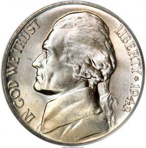 1943-P Jefferson Nickel Value War Nickel Value