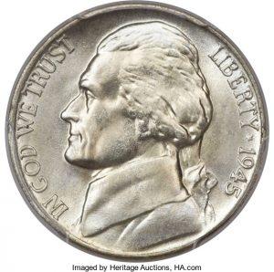 1945 D Jefferson Nickel Value War Nickel