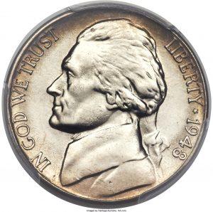 1948 Jefferson Nickel Value