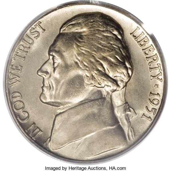 1951-S Jefferson Nickel Value