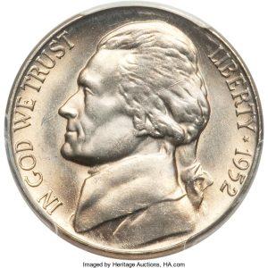 1952 Jefferson Nickel Value