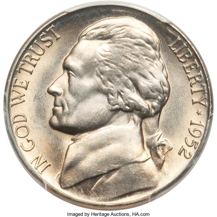 1952-S Jefferson Nickel Value