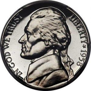 1958 Jefferson Nickel Value