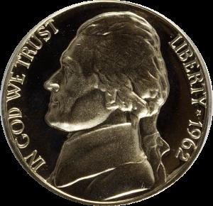 1962 Jefferson Nickel Value