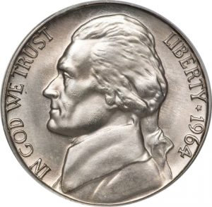 1964 Jefferson Nickel Value