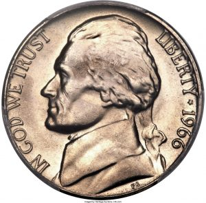 1966 Jefferson Nickel Value