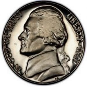 1967 Jefferson Nickel Value