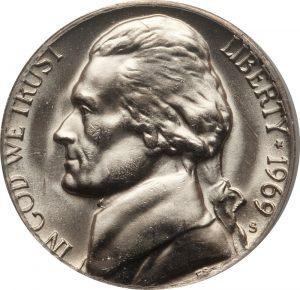 1969-S Jefferson Nickel Value