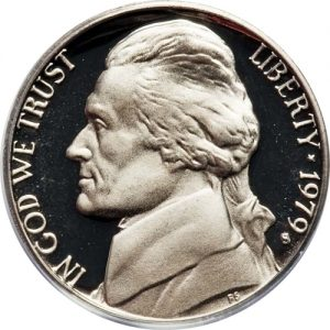 1979-S Jefferson Nickel Value Clear Type 2 Value