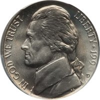 1991-P Jefferson Nickel Value