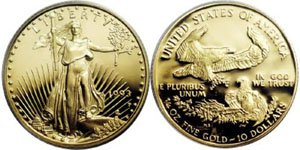 $10 American Gold Eagle Vaue 1/4th ounce