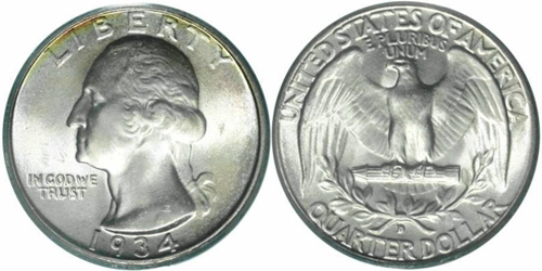 1934-D Washington Quarter Value