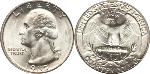1935-D Washington Quarter Value
