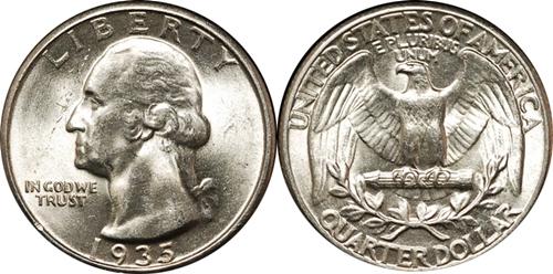 1935 P Washington Quarter Value