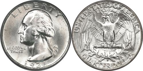 1936-S Washington Quarter Value
