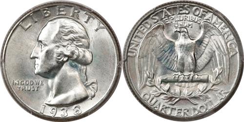 1938 P Washington Quarter Value