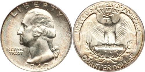 1940-D Washington Quarter Value