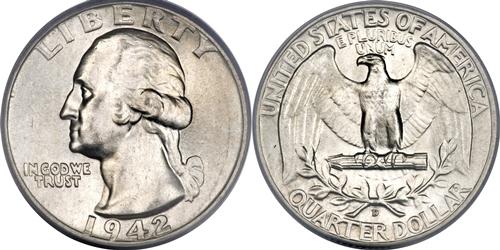 1942-D Washington Quarter Value