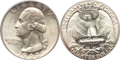1943 P Washington Quarter Value - CoinHELP