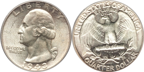 1943 P Washington Quarter Value