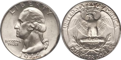 1944-D Washington Quarter Value