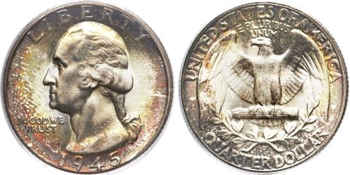 1945-D Washington Quarter Value
