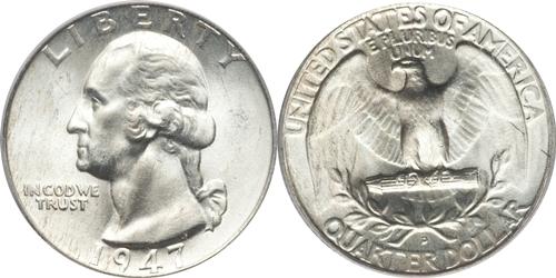 1947-D Washington Quarter Value