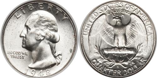 1948-S Washington Quarter Value