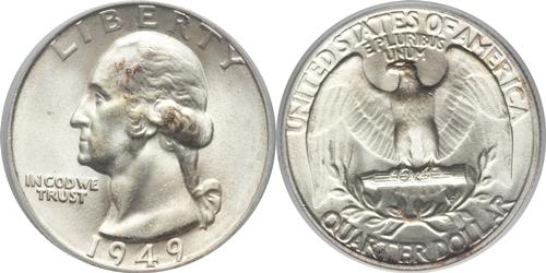 1949 P Washington Quarter Value