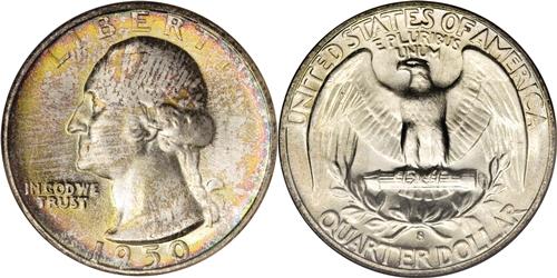 1950-S Over D Washington Quarter Value