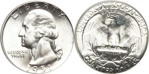 1951 P Washington Quarter Value