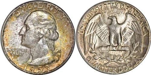 1953 P Washington Quarter Value