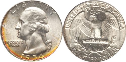 1954 P Washington Quarter Value