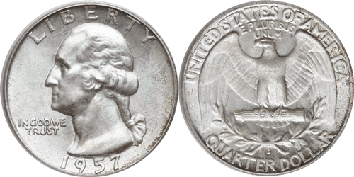 1957-D Washington Quarter Value