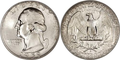 1959-D Washington Quarter Value