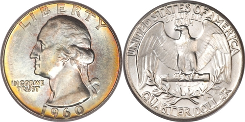 1960 P Washington Quarter Value