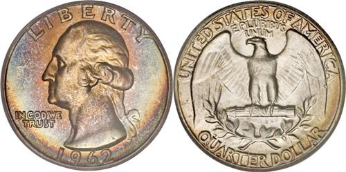 1962 P Washington Quarter Value