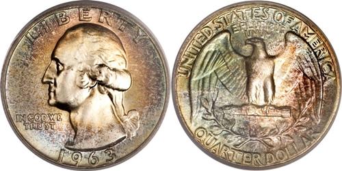 1963 P Washington Quarter Value